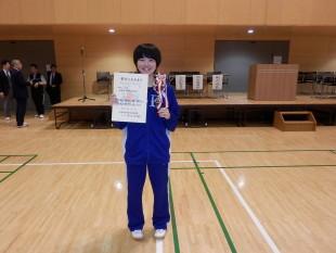 準優勝した杉渕 栞さん