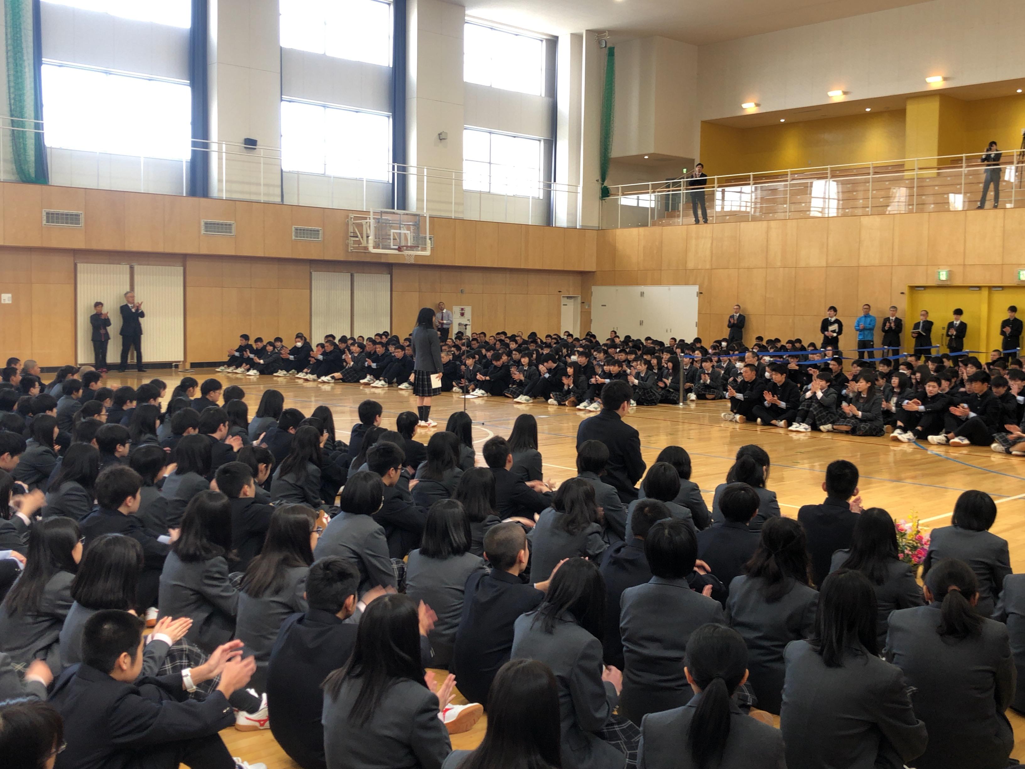 駒澤大学付属苫小牧高等学校新1年生を迎えて行事が行われました